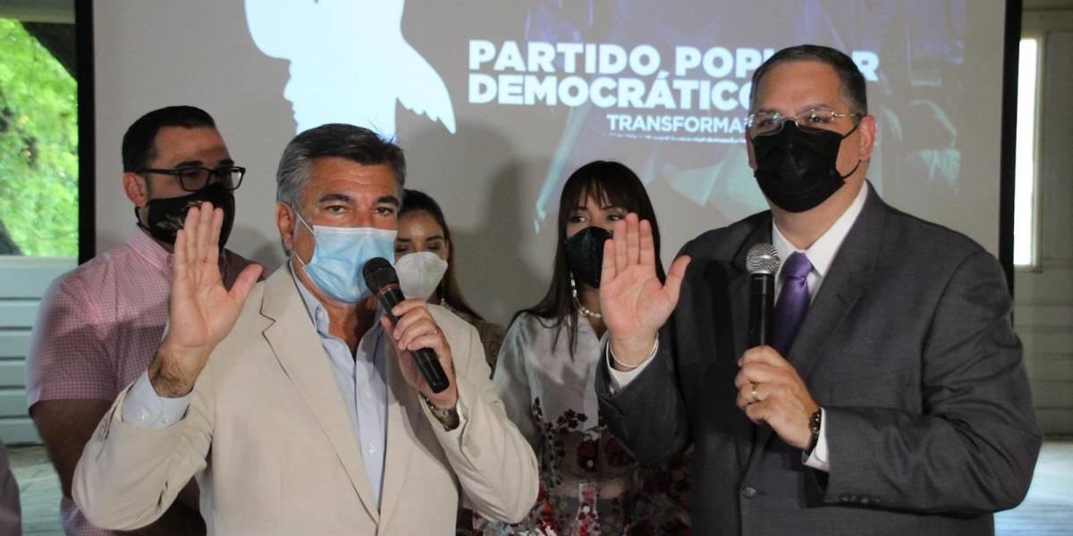"""""""Charlie"""" Delgado juramenta como presidente del Partido Popular Democrático"""