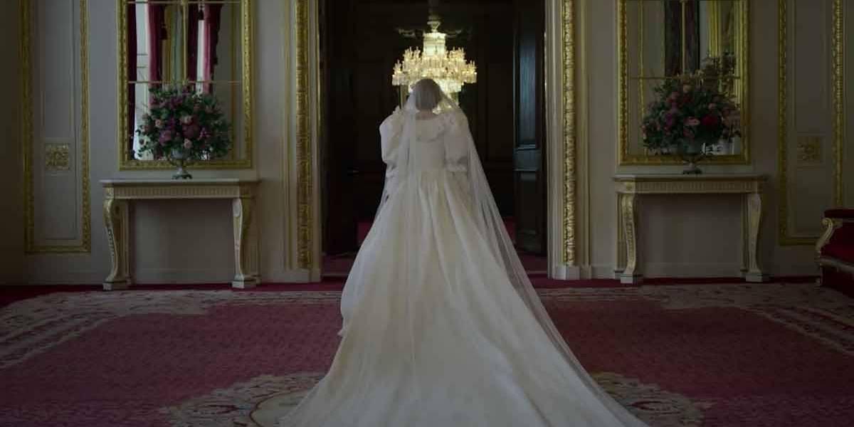 The Crown: primeiro olhar para o vestido de noiva da princesa Diana