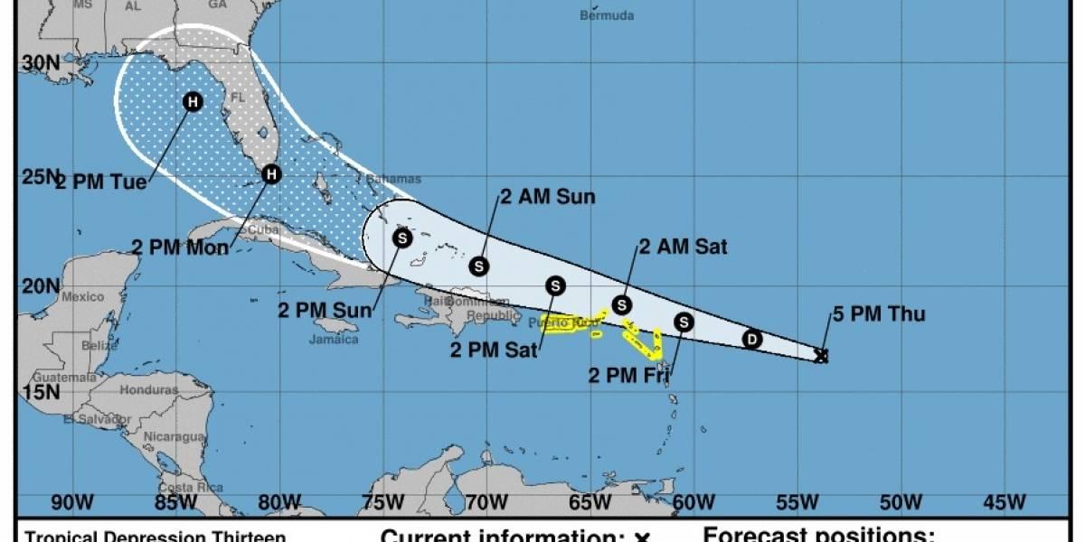 Emiten vigilancia de tormenta para Puerto Rico e Islas Vírgenes