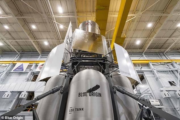 El lander creado por Blue Origin, compañía de Jeff Bezos