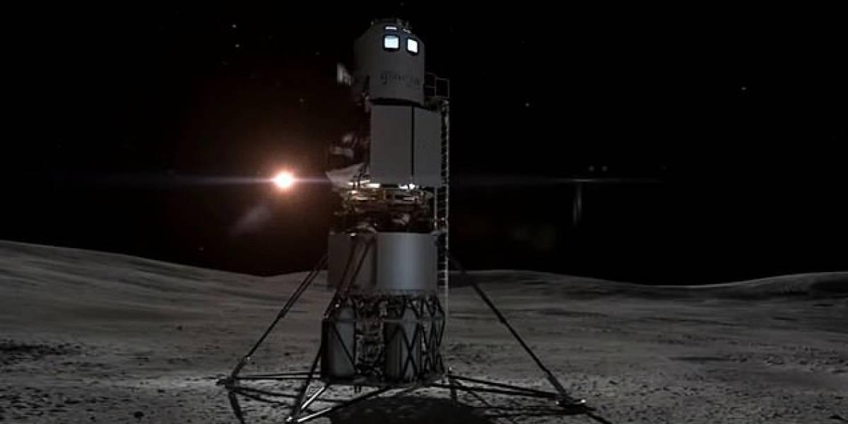 Así es la nave que podría llevar a la primera mujer a la Luna, hecha por la compañía de Jeff Bezos