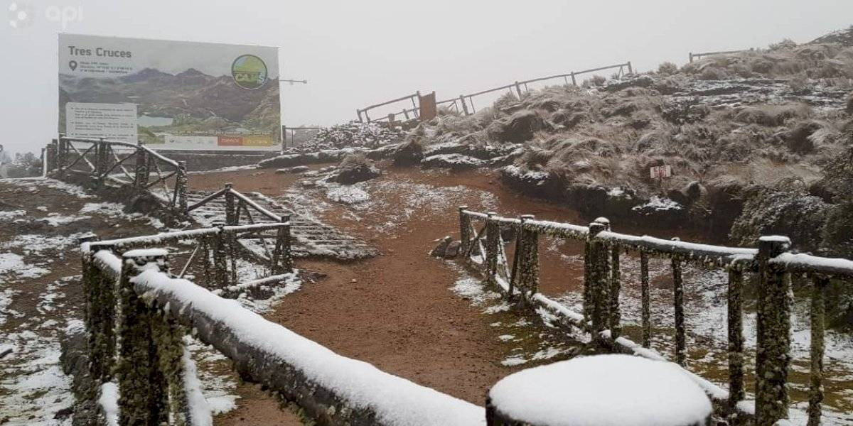 Fotos: El Cajas (Cuenca) se cubrió de nieve debido a las bajas temperaturas
