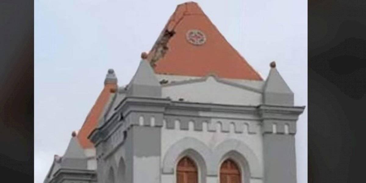 Rayo causa daños en una iglesia de Aibonito