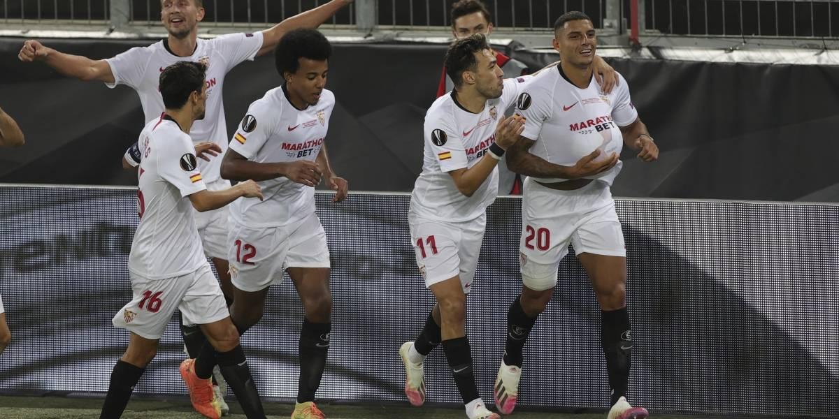 El Sevilla, hexacampeón de la Europa League, tras superar al Inter en la final