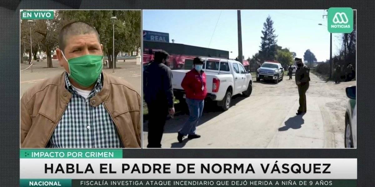 """Padre de Norma Vázquez, carabinera asesinada: """"La justicia no se hizo presente en un primer momento"""""""