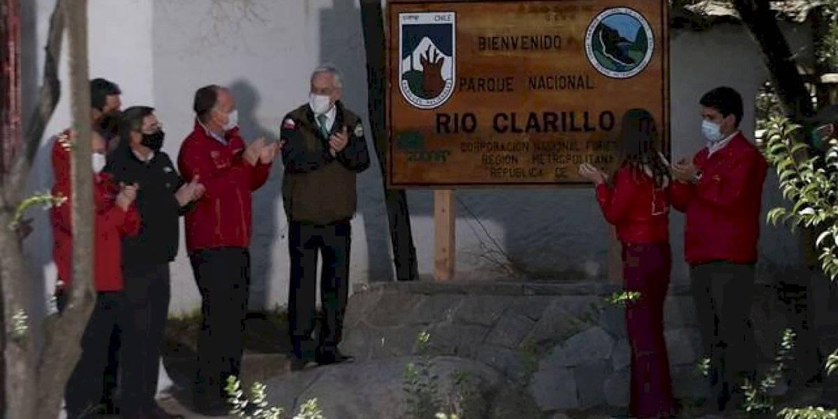 Piñera anuncia nuevos Parques Nacionales Río Clarillo y Salar del Huasco