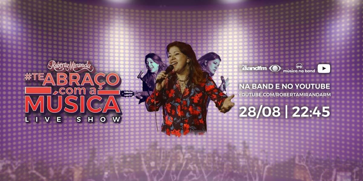 'Música na Band': Roberta Miranda canta seus sucessos ao vivo nesta sexta