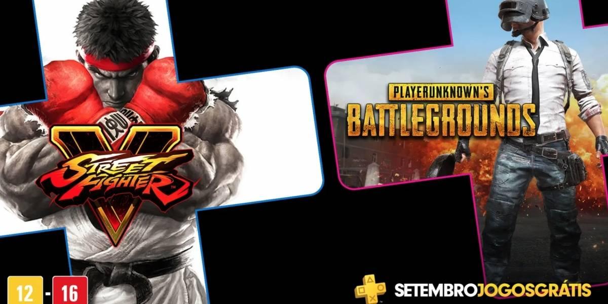 PS Plus: PUBG e Street Fighter V são os jogos gratuitos do mês de setembro