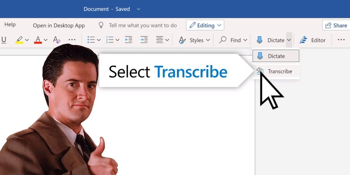 Microsoft Word ya te deja transcribir tus archivos de audio a texto y es hermoso