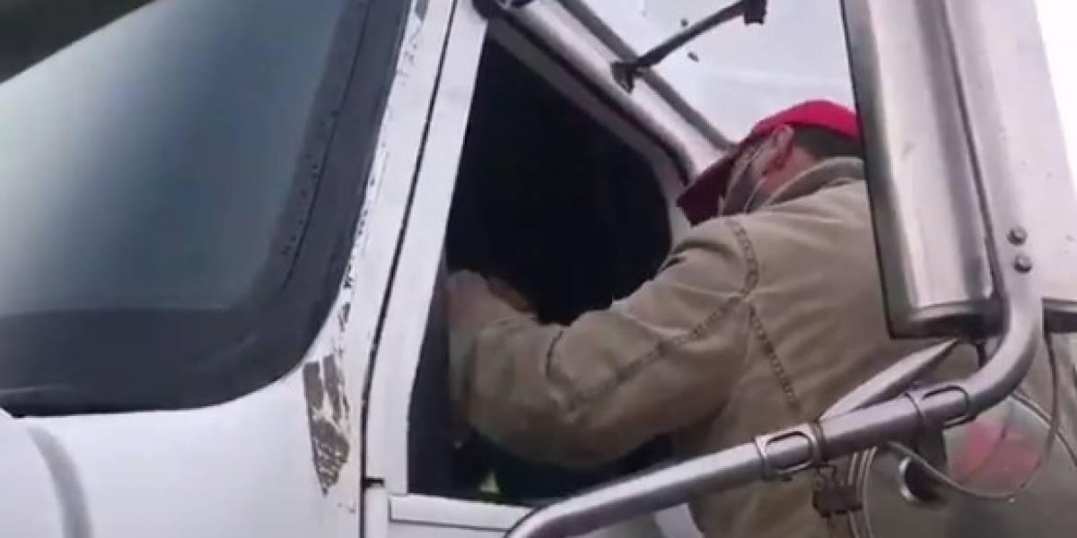"""Camionero amenaza a colega que no quiso sumarse al paro: """"En patota te vamos a hacer mierda"""""""