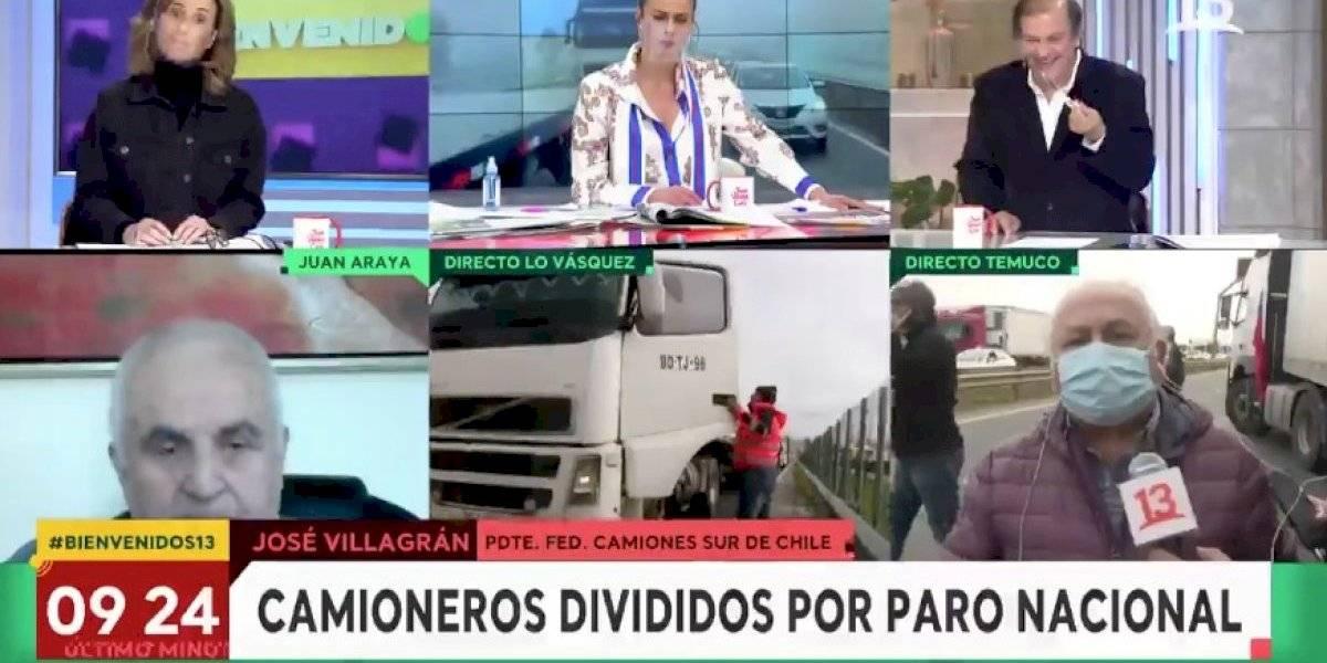 """Dirigente camionero repasó a Francisco Vidal en """"Bienvenidos"""": """"Usted que fue político y hoy está en los matinales, también tiene culpa"""""""