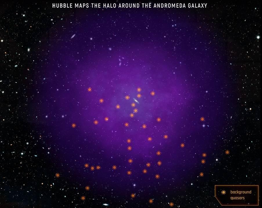 Halo Andrómeda mapa