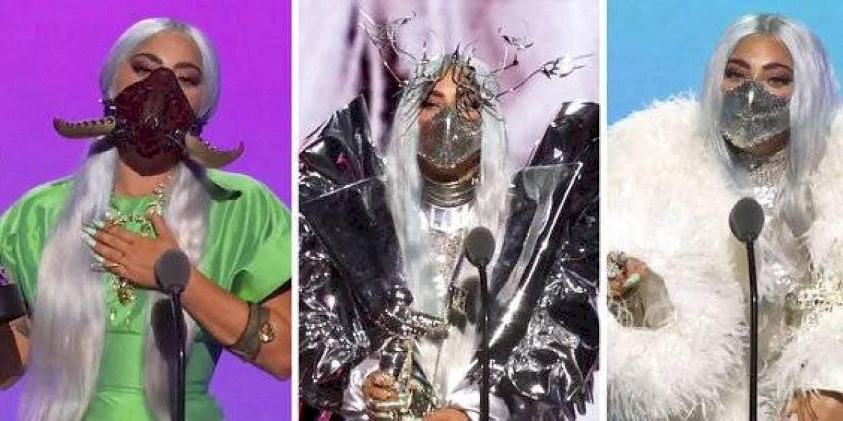 Protagonistas las mascarillas en los VMAs 2020