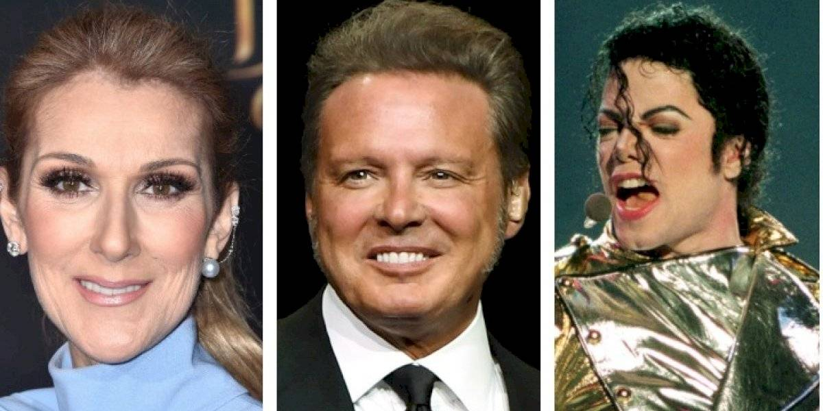 Luis Miguel comparte duetos con Celine Dion y Michael Jackson