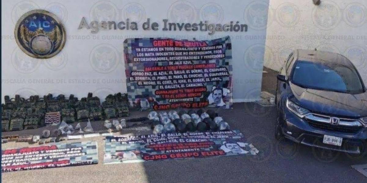 Aseguran arsenal del Cártel Jalisco Nueva Generación en Irapuato