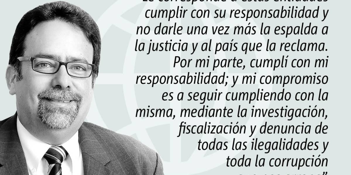 Columna de opinión de Denis Márquez: Cumpliendo mi responsabilidad