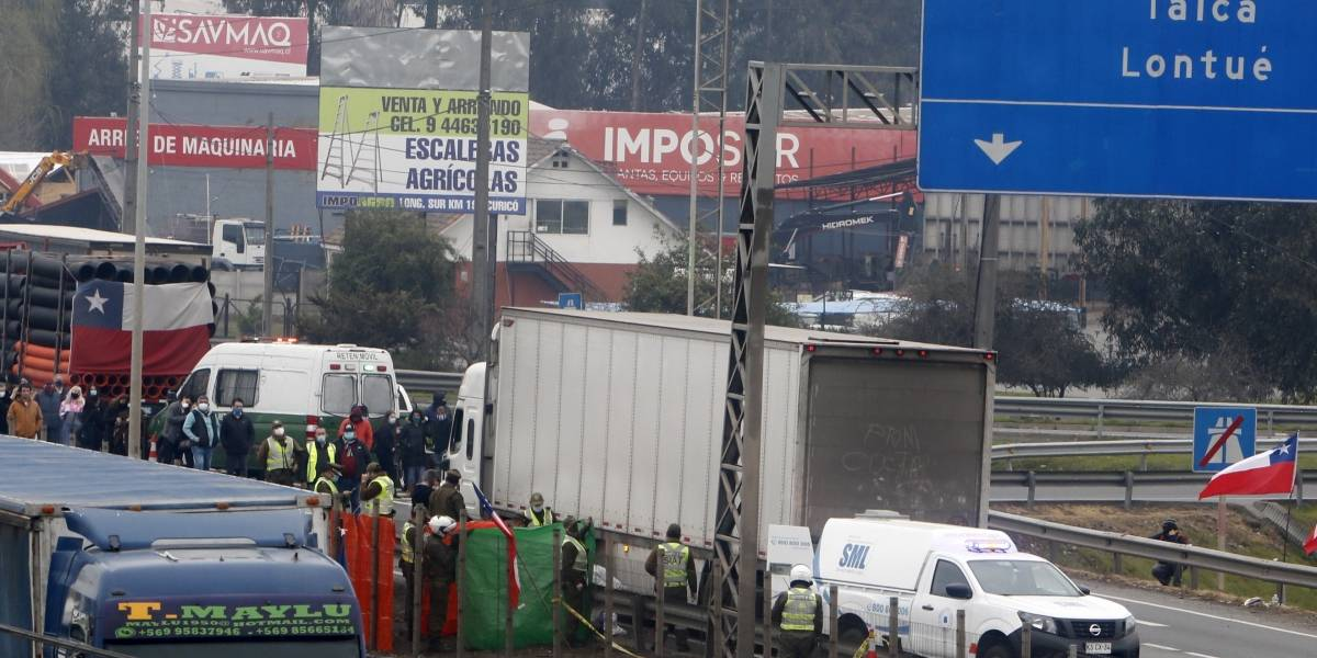 Camionero que murió atropellado en Ruta 5 discutió con conductor del camión