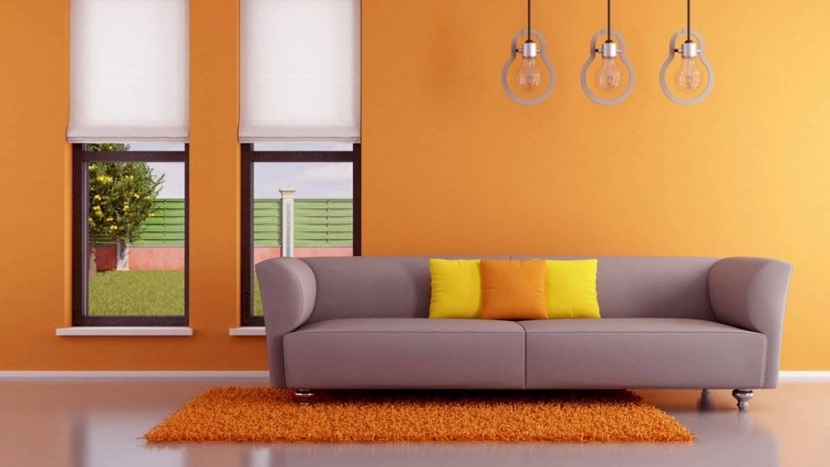 Dale unas pinceladas naranja, marrón o beige a tus paredes