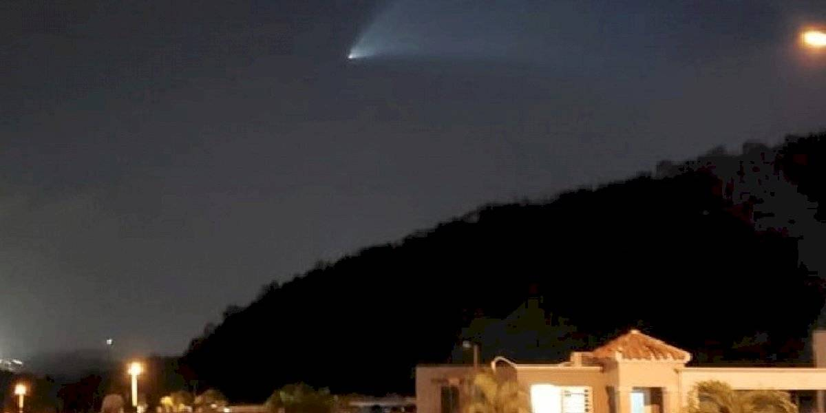 Posible avistamiento de otro cohete esta noche sobre Puerto Rico