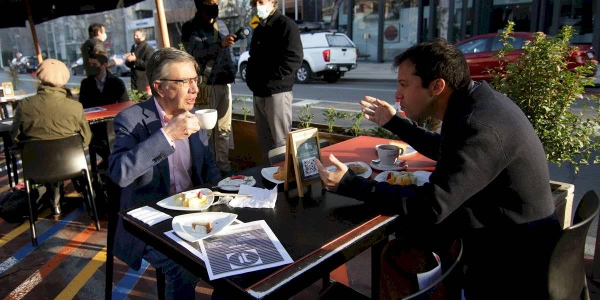 El primer café al aire libre de Lavín: Las Condes entró hoy a etapa de preparación