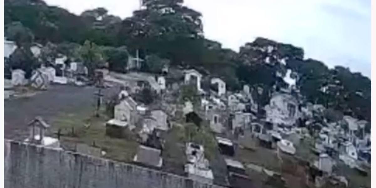 Vídeo mostra vulto andando entre as lápides de cemitério em Rondônia