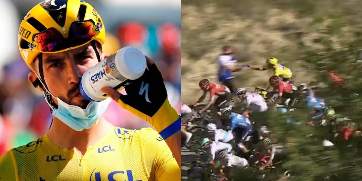 ¡Nuevo líder en el Tour! La insólita razón por la que sancionaron a Alaphilippe y perdió la camisa amarilla