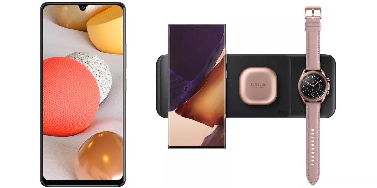 Samsung no para: anuncia el Galaxy A42 ultra barato para redes 5G y su Wireless Charger Trio