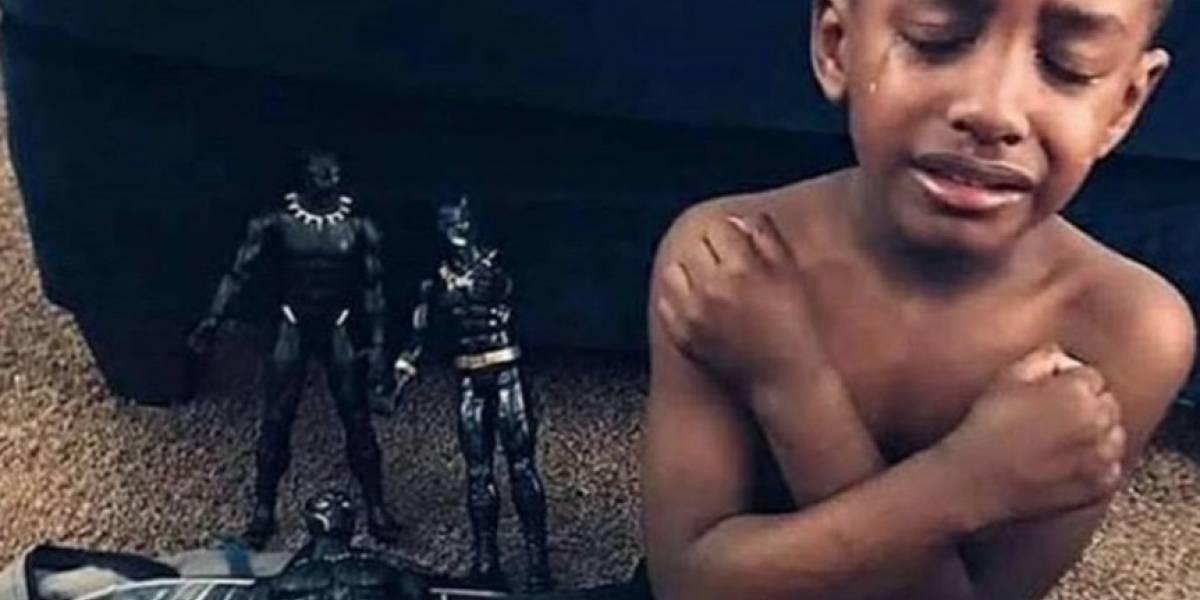 Niños rinden homenaje a Chadwick Boseman