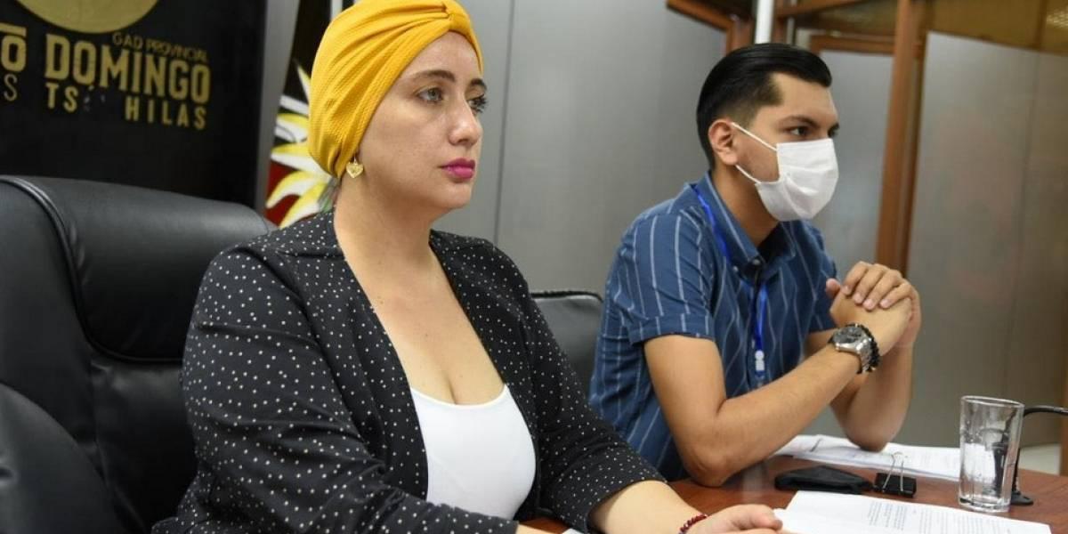 Prefectura de Santo Domingo se reúne con la CAF por proyectos viales