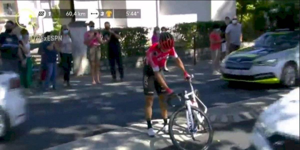 ¡Fea caída! Dayer Quintana se fue al suelo en la sexta etapa del Tour de Francia