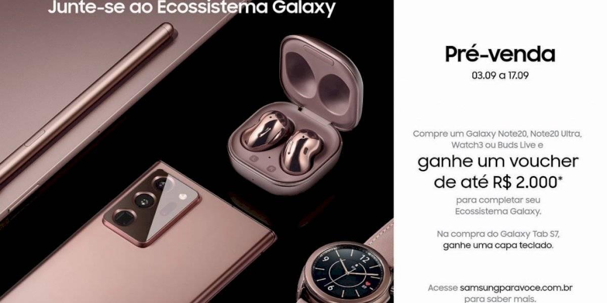 Ecossistema Samsung Galaxy: Note20 | 20 Ultra 5G, Watch3, Buds Live e Tab S7 já estão disponíveis para pré-venda no Brasil