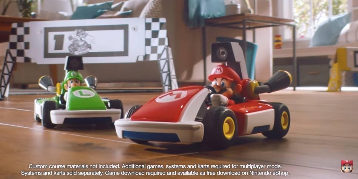 Mario Kart Live: Home Circuit convierte tu casa en pista de carreras con un coche inteligente