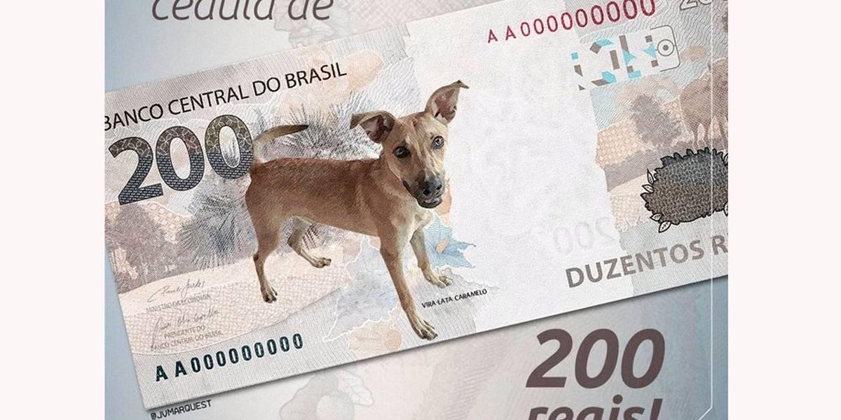 Internautas recriam desenho da nova nota de R$ 200