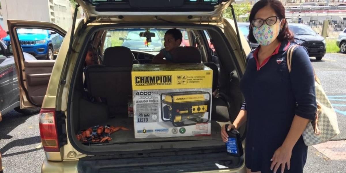 Donan generadores eléctricos a 32 familias