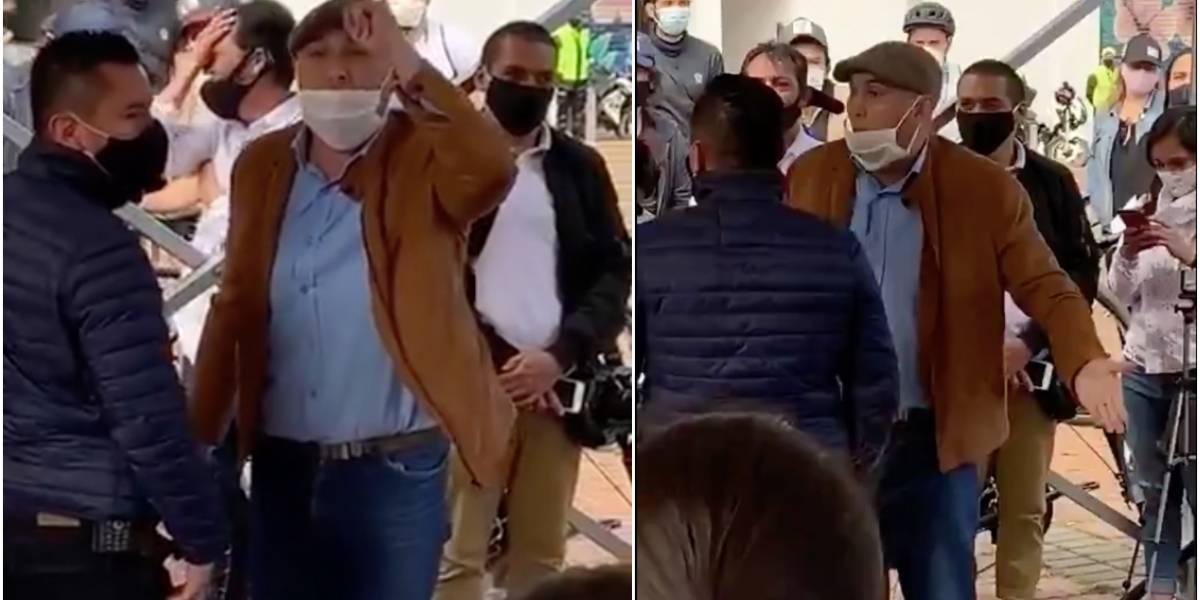 (Video) Hombre homofóbico insultó públicamente a la alcaldesa Claudia López