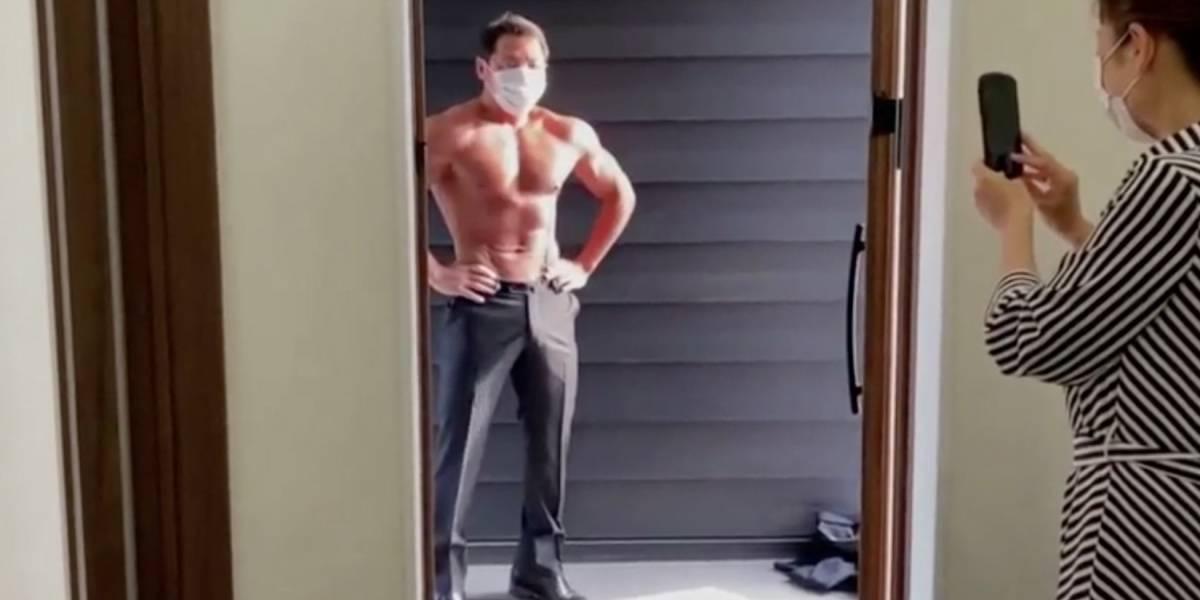 """""""Delivery Macho"""": la entrega con striptease que ideó restaurante en Japón para reactivar el negocio tras el coronavirus"""