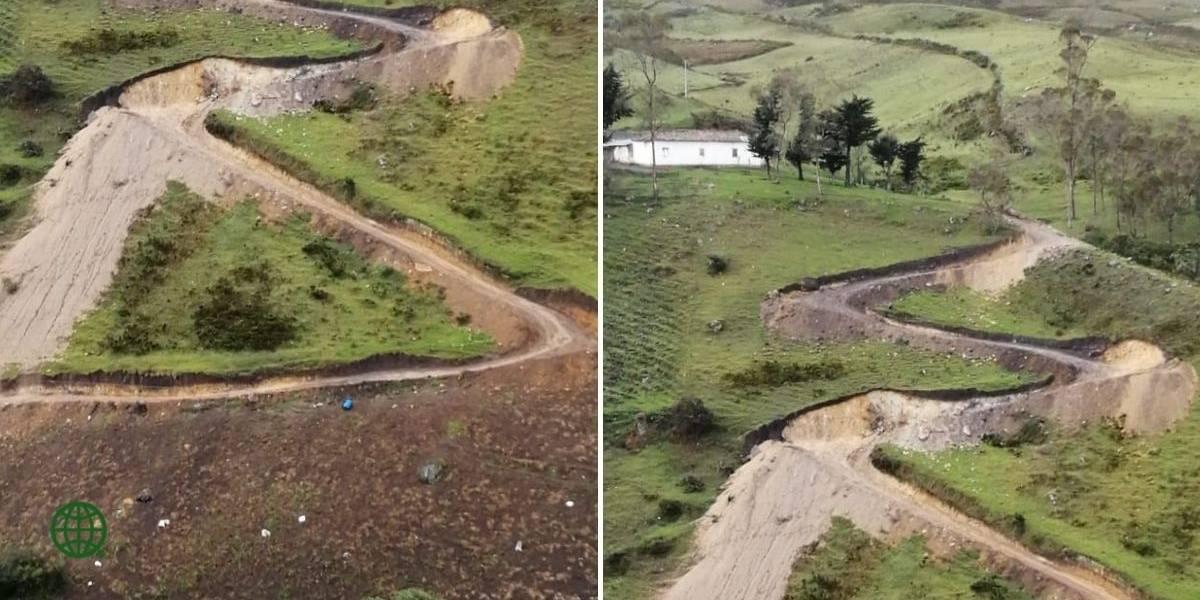 Denuncian la construcción de una carretera en el páramo de Santurbán