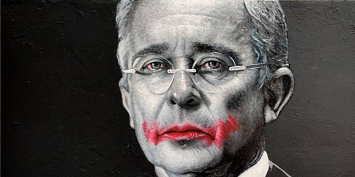 Uribistas tacharon mural de Álvaro Uribe que hizo reconocido artista