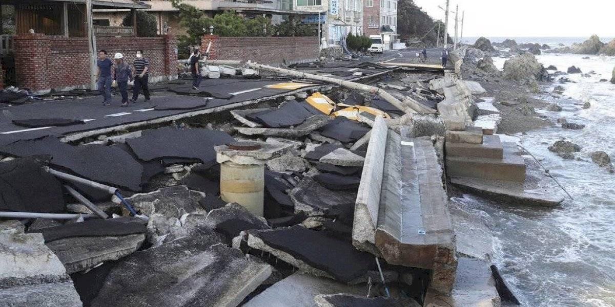 Tifón golpea Corea del Sur tras azotar el sur de Japón