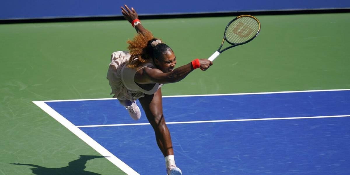 Serena Williams saca fuerzas y domina para adelantar en el US Open