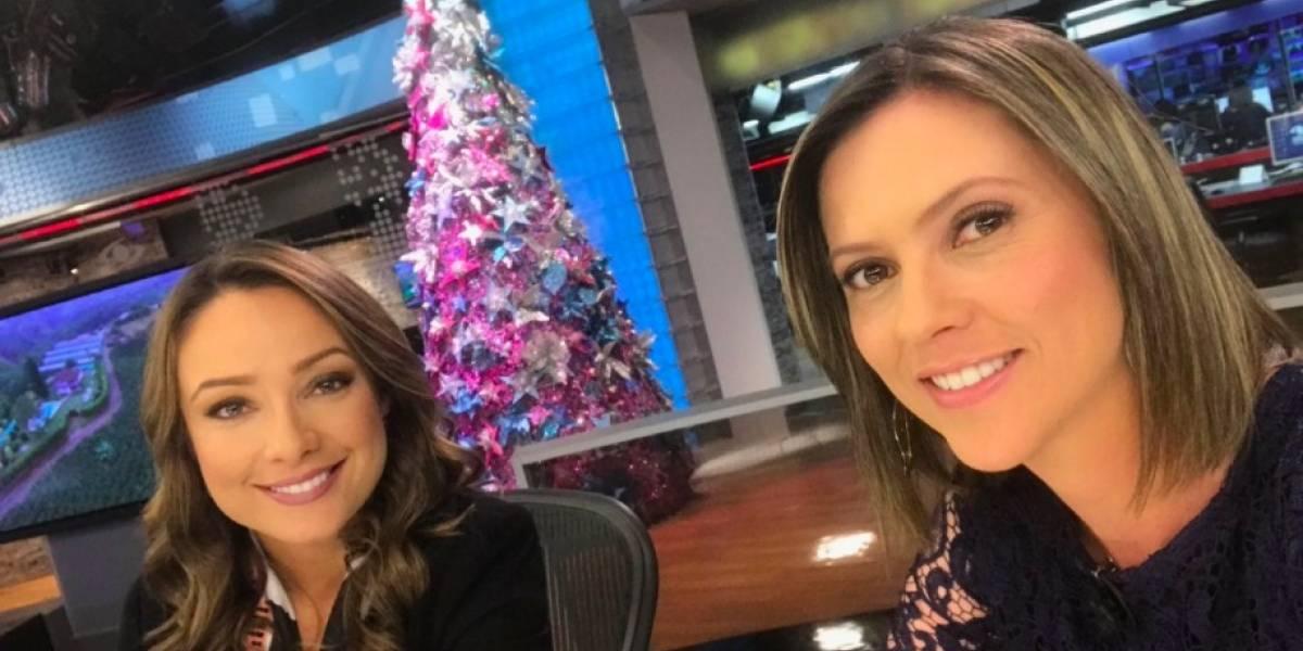 """""""Pelea"""" entre Mónica Jaramillo y otra presentadora de 'Noticias Caracol' fue para risas en redes"""