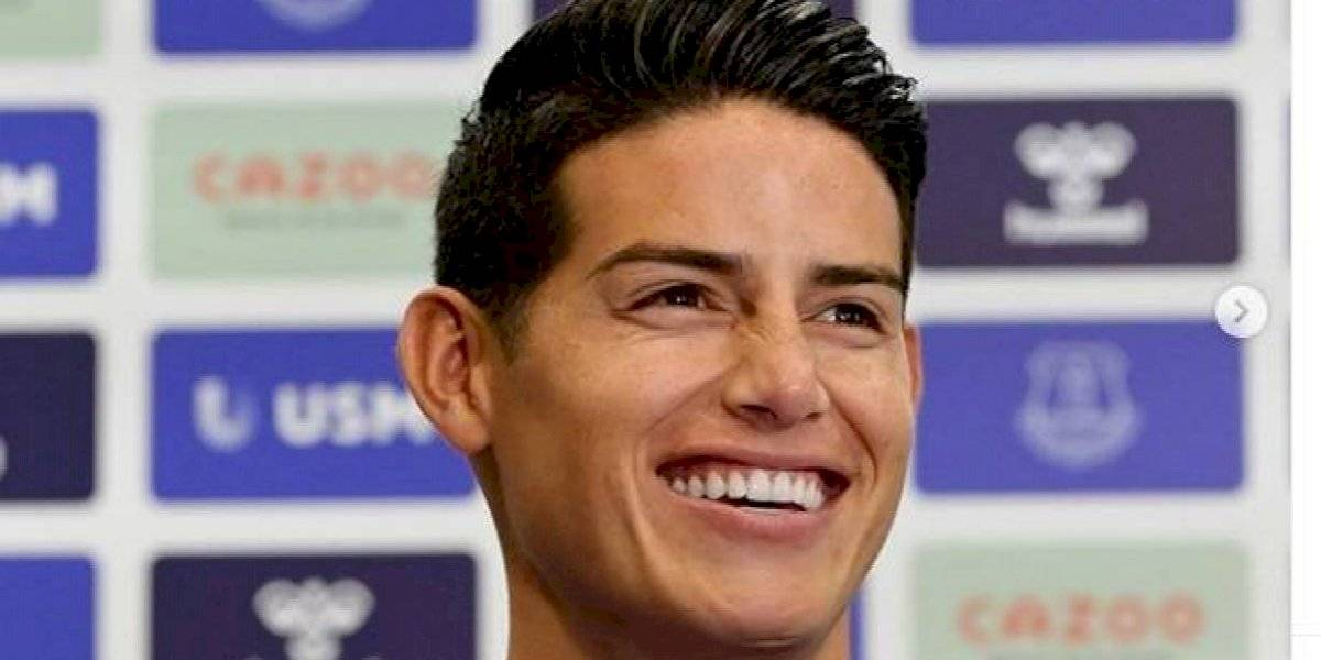 ¡Volvió a ser feliz! El mensaje de James en Instagram tras su llegada al Everton
