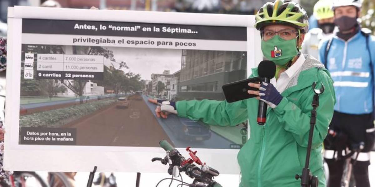 """Claudia López defiende su troncal por la Séptima: """"no va a mover gente como ganado"""""""