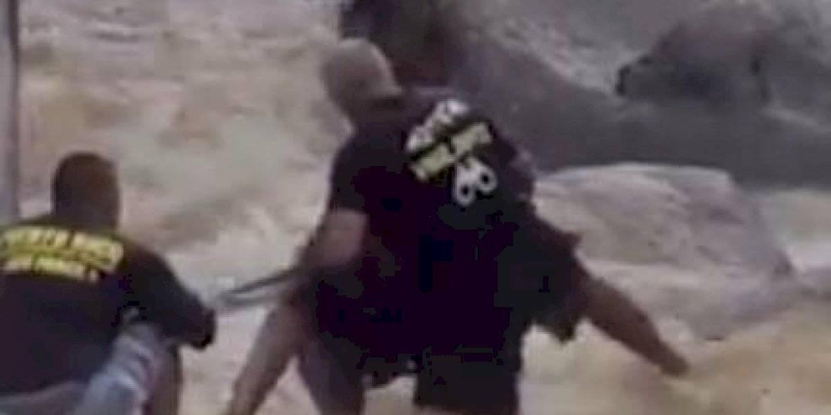 VIDEO: Así fue el rescate de la turista atrapada en el Hippie de Naguabo