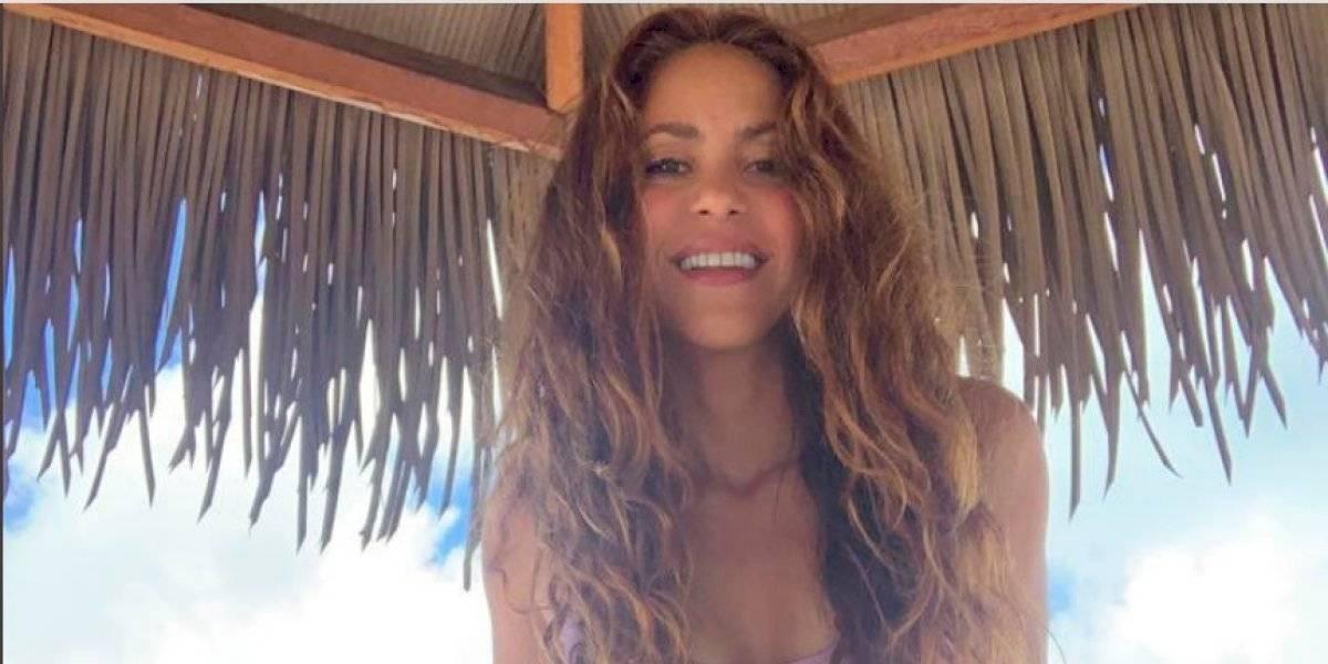 Shakira impacta con un bikini diseñado por ella