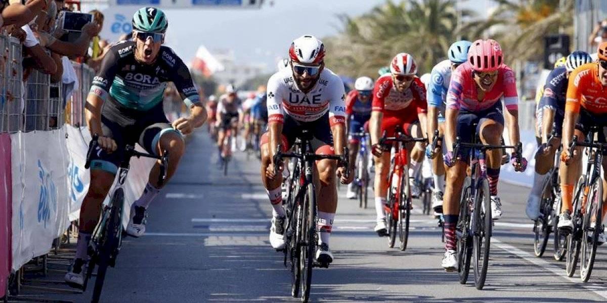 ¡Deja-vú! Ackermann vuelve a ganarle a Gaviria en el sprint de la Tirreno Adriático