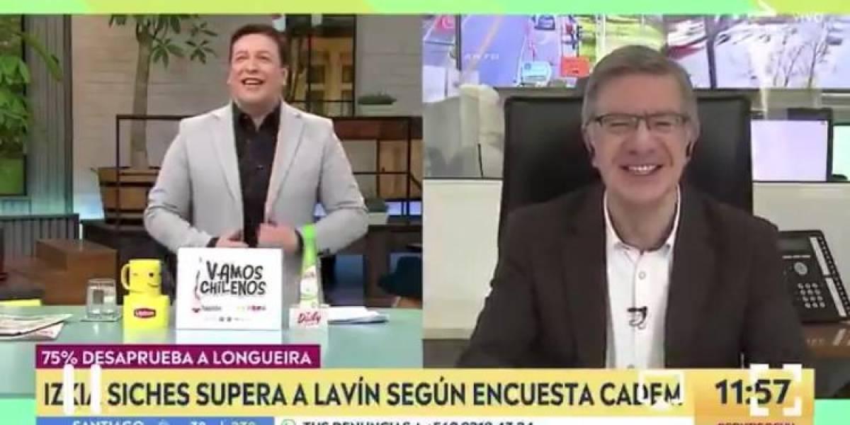 """Julio César Rodríguez bromeó con Joaquín Lavín y sus memes en el cyberday: """"Usa chaqueta reversible"""""""