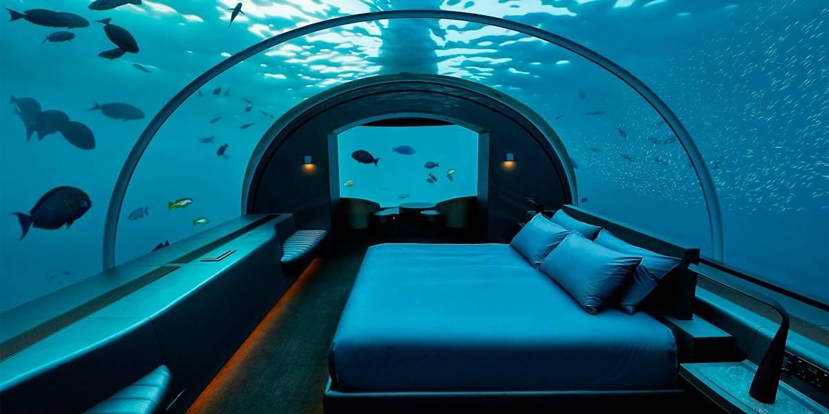 Turismo: já pensou em dormir embaixo da água?