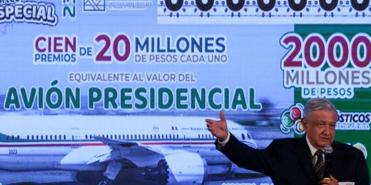 Venta de cachitos para el avión presidencial va al 63.58%