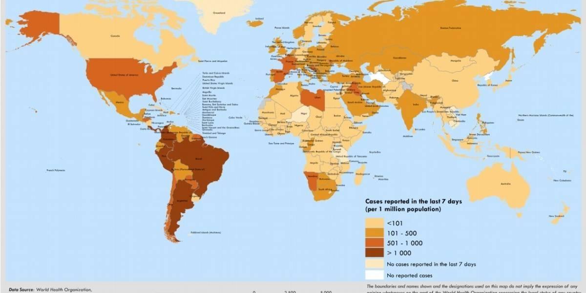Los 10 países con más contagios de COVID-19, ¿Colombia está en la lista?